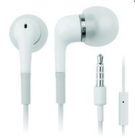 100pcs/lot Stereo Earphone handsfree headphone headset With Mic for iphone 3G/3GS/4 iPod Free Shipping