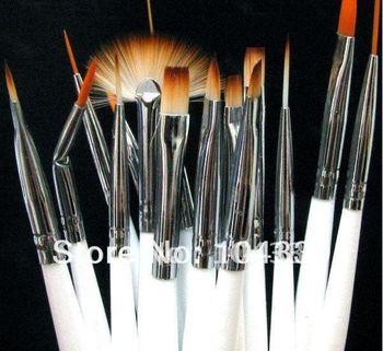 15pcs Nail Art Gel Design Painting Pen Polish Brush Set Free Shipping