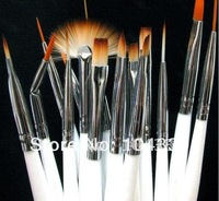 15pcs Nail Art Gel Design Painting Pen Polish Brush Set Free Shipping