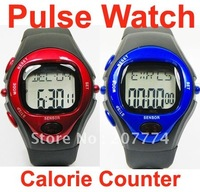 Freeshipping heart pulse watch Heart Rate Counter Calories Monitor Watch without retail box