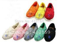 Free shipping Wholesale women's crochet shoes Pieces 8 differ colors