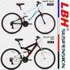 High Quality 18-Speed Brand LBH 26-Inch HI-TEN Full Suspension Mountain Bike.Aluminum Alloy Rim.