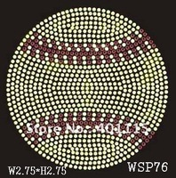 WSP76  Sports,dance & games  designs rhinestone transfer(topaz and red color  ball)