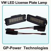 2012 Newest LED License Plate light 18 SMD LED For VW Golf 4/5,Passat,Sedan,POLO
