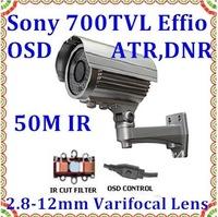 CCTV Waterproof Camera with IR CUT Sony Effio-E 700TVL OSD 2.8-12mm Varifocal Lens Surveilance camera