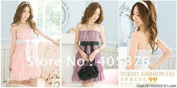 $15 off per $150 order FREE shipping  2011 Beautiful Elastic cake Chiffon Dress Lavender , purple, pink or white AG-018