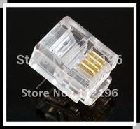 RJ11 6P6C Modular Plug Telephone Connector 5000 Pcs Per Lot HOT Sale HIGN Quality free shipping