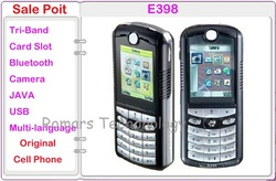 E398 Unlocked Original Mobile Phones Russian keybaord Polish Languages Hotsale Free Shipping(China (Mainland))