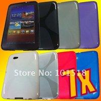 100pcs/lot Free shipping Soft TPU Gel Case for Samsung Galaxy Tab 2 7.0 Tablet P3100 New