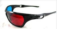 20 pcs/lot 3D glasses/Re-useable Plastic Frame Resin Lens Anaglyphic Blue&Red 3D Glasses/Plastic Glasses Red/Cyan