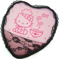 Heart-shaped Hello Kitty lace wrist mouse pad