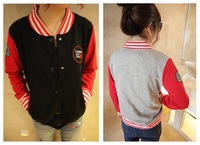 2012 spring and autumn women's casual baseball uniform cardigan women's outerwear long-sleeve single breasted sweatshirt