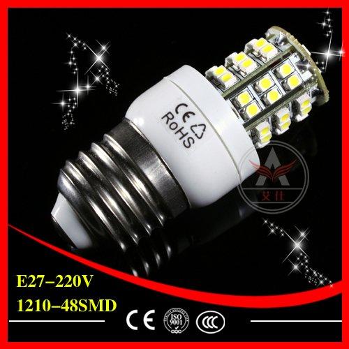 E14  E27 G9 48 SMD 1210 3528 3W Corn Light  LED Bulb Lamp Warm White Nature White LED LIGHT Free ...