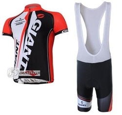 NEW Arrivals! GIANT 2011 black+red bib short sleeve cycling jerseys wear clothes bicycle/bike/riding jerseys+bib pants(China (Mainland))