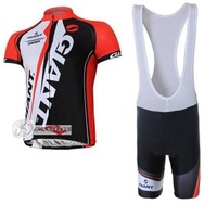 NEW Arrivals! GIANT 2011 black+red bib short sleeve cycling jerseys wear clothes bicycle/bike/riding jerseys+bib pants