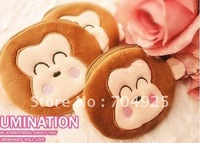 Mini Coin Purse Wallet ; Cute Monkey Plush Coin Purse & Wallet BAG Pouch CASE ; Pendant Storage Chain BAG Pouch Handbag Pack