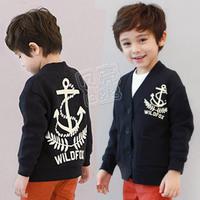 2012 autumn navy style boys clothing baby cardigan wt-0561
