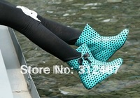 2012 new arrive blue sexy patent leather flat ankle boots shoes free shipping drop shipping LLD 416
