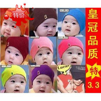 Promotion 10 PCS/lot free shipping baby hat baby cap infant cap Cotton Beanie Infant Hat Skull Cap Toddler Boys & Girls Hats