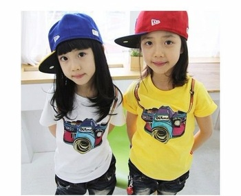 Free shipping 5pcs/lot kids clothes, kids wear, children clothing, t-shirt, tees, tops baby wear, The Camera models