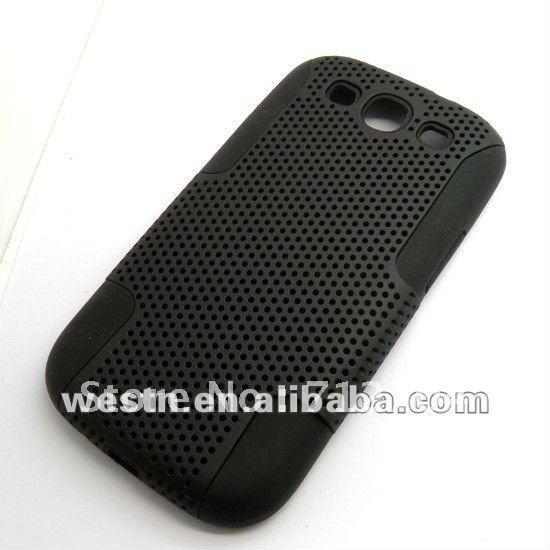 Custom cell phone hard case mesh net hole case