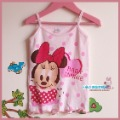 2013 summer 100% cotton female child spaghetti strap vest girl's clothing children garment free shipping
