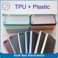 New TPU Bumper with Plastic back cover for iphone 4 4S transparent thin case