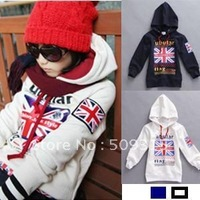 2012 82land child sweatshirt m word flag fashionable casual outerwear 4pcs/lot free shipping