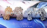 Free shipping handmade phone strap, bead strap,hotselling promotion gift ,Poodle dog style(3pcs/lot)