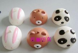 Free Shipping, New Jumbo Squishy Buns Bread Charms, Squishies Cell Phone Straps,(China (Mainland))