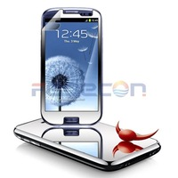 Mirror LCD Static Screen Protector Cover Guard with retail package For Samsung Galaxy S3 i9300 i747