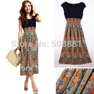 Styles of summer dresses with patterns 9