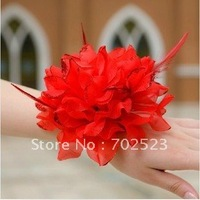 Wholesale - 10 pcs Children performing flowers, the bride hand flower head flower, bridesmaid wrist flower