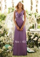 Custom Made A-line V-Neck Floor Length Cheap Prom Dress/Evening Dress