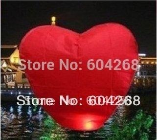 Free Shipping Heart Wishing Lamp SKY CHINESE LANTERNS BIRTHDAY WEDDING PARTY SKY LAMP 30Pcs/Lot