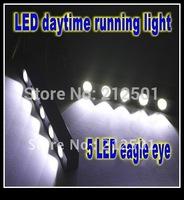 Free shipping Waterproof Daytime Running Light 5 LED Eagle Eye  Lamp ultra bright warning lights