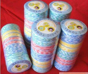 cheap , clean towel Economical Mini portable Compressed Towel,cotton face towel,disposable textile Wholesale