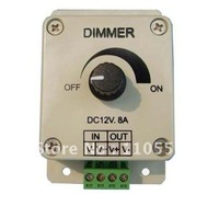 Wholesale 2pcs/lot Led Dimmer 12V 8A 96W Adjustable Brightness Controller LED Dimmer Free Shipping!