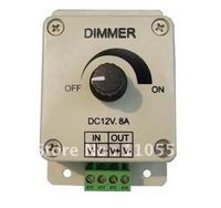 Wholesale 2pcs/lot Led Dimmer 12V 8A 96W Adjustable Brightness Controller LED Dimmer Free Shipping!
