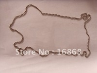 Free Shipping!1 Pack=100pcs 24inch 60cm, 2.4mm Bead Ball Chains, Metal,Iron,with connector,used as dog tag sets or necklace