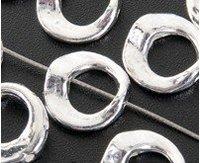 100 Tibetan Silver Circle Bead Frame Spacers 0269