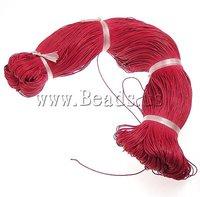 Веревка для ювелирных изделий Cotton Wax Cord, black color, 1mm, Length:80, Sold by PC