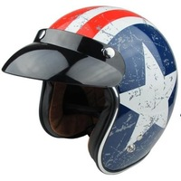 Free Shipping Motorcycle helmet JET Helmet with America Star decoration super Composite Material TROC-V541