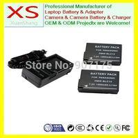 2x Battery + Charger for Panasonic DMW-BLC12 DMC-GH2GK DMW-BLC12GK DMW-BLC12PP DMW-BLC12E