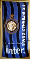 Inter Milan FC Soccer Big Washcloth Cotton Beach Bath Towel #01