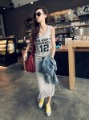 2012  new arrival best selling woman&#39;s dress, gray comfortable long dress