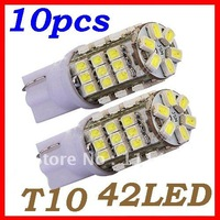 Freeshipping 42smd  t10 1210 3528 for all cars white 24months warranty Car Led light, T10 LED, Wedge BULB W5W LAMP