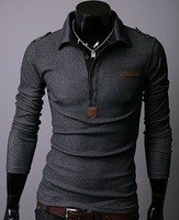 Men t shirt 2013 +Men's long Sleeve T Shirt slim fit ,t shirt ,cotton,3colors ,4sizes,drop shipping MLT40