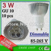 free shipping(10pcs/lot) +3 years warranty led gu10 spotlight bulbs