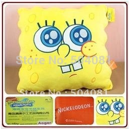 free shipping SpongeBob doll toy /plush cushion plush cartoon pillow /gift 20pcs/lot four expression hold pillow/children toy(China (Mainland))